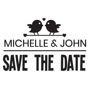 X-Large Personalised Stamp - Wedding 1