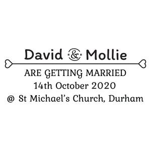 X-Large Personalised Stamp - Wedding 2