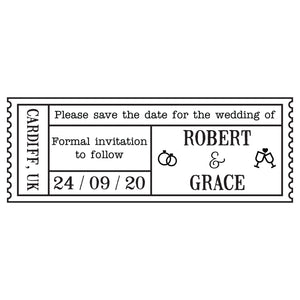 X-Large Personalised Stamp - Wedding 3
