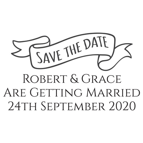 X-Large Personalised Stamp - Wedding 4