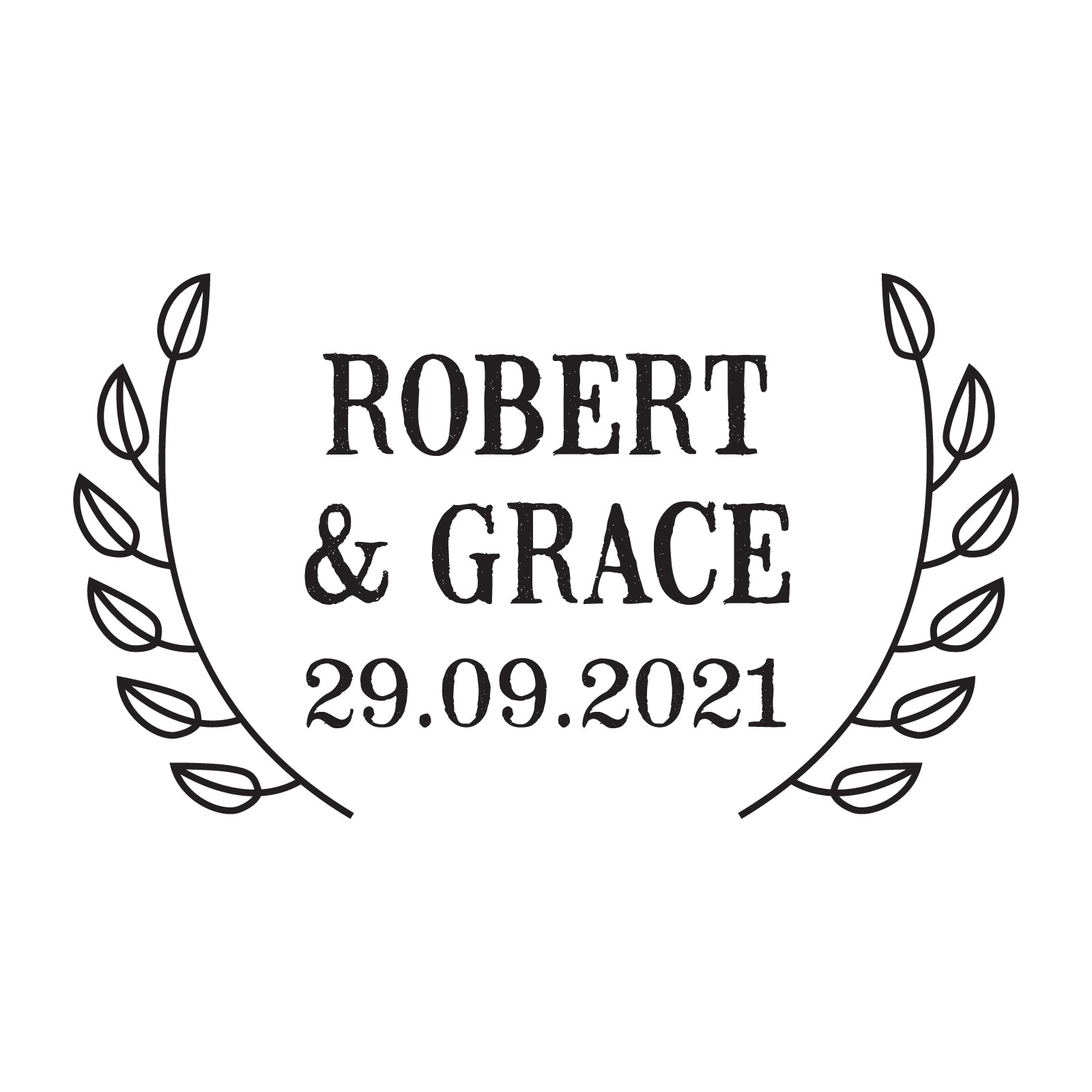 X-Large Personalised Stamp - Wedding 5