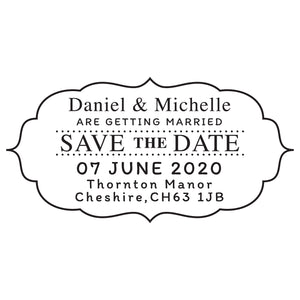 X-Large Personalised Stamp - Wedding 6