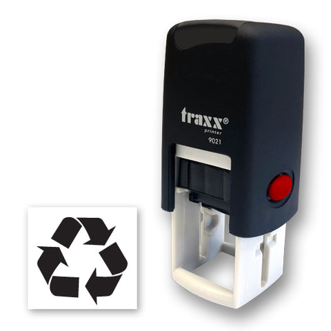 Traxx 9021 14 x 14mm Loyalty Stamp - Recycle