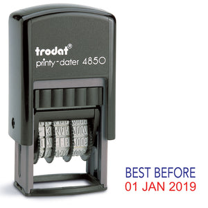 Trodat 4850 Stock Date Stamp - BEST BEFORE