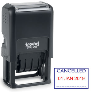 Trodat 4750 Stock Date Stamp -  CANCELLED