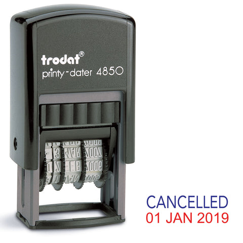 Trodat 4850 Stock Date Stamp - CANCELLED