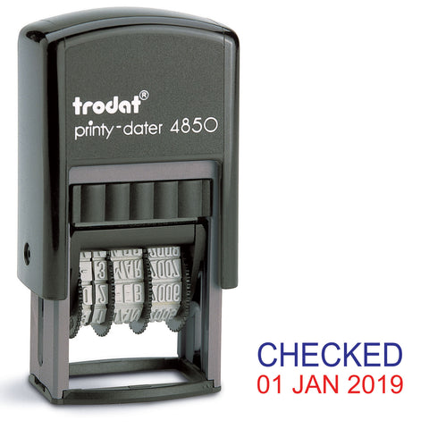 Trodat 4850 Stock Date Stamp - CHECKED