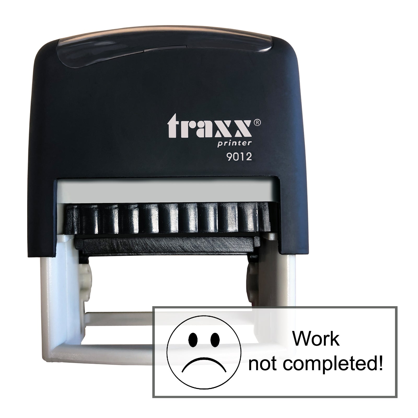 Traxx 9012 48 x 18mm Assessment Stamp - Work not completed