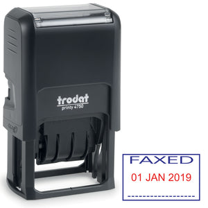 Trodat 4750 Stock Date Stamp -  FAXED