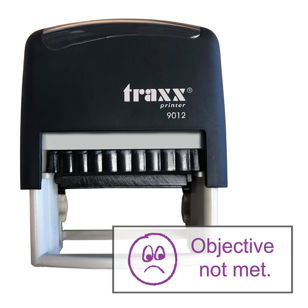 Traxx 9012 48 x 18mm Assessment Stamp - Objective not met