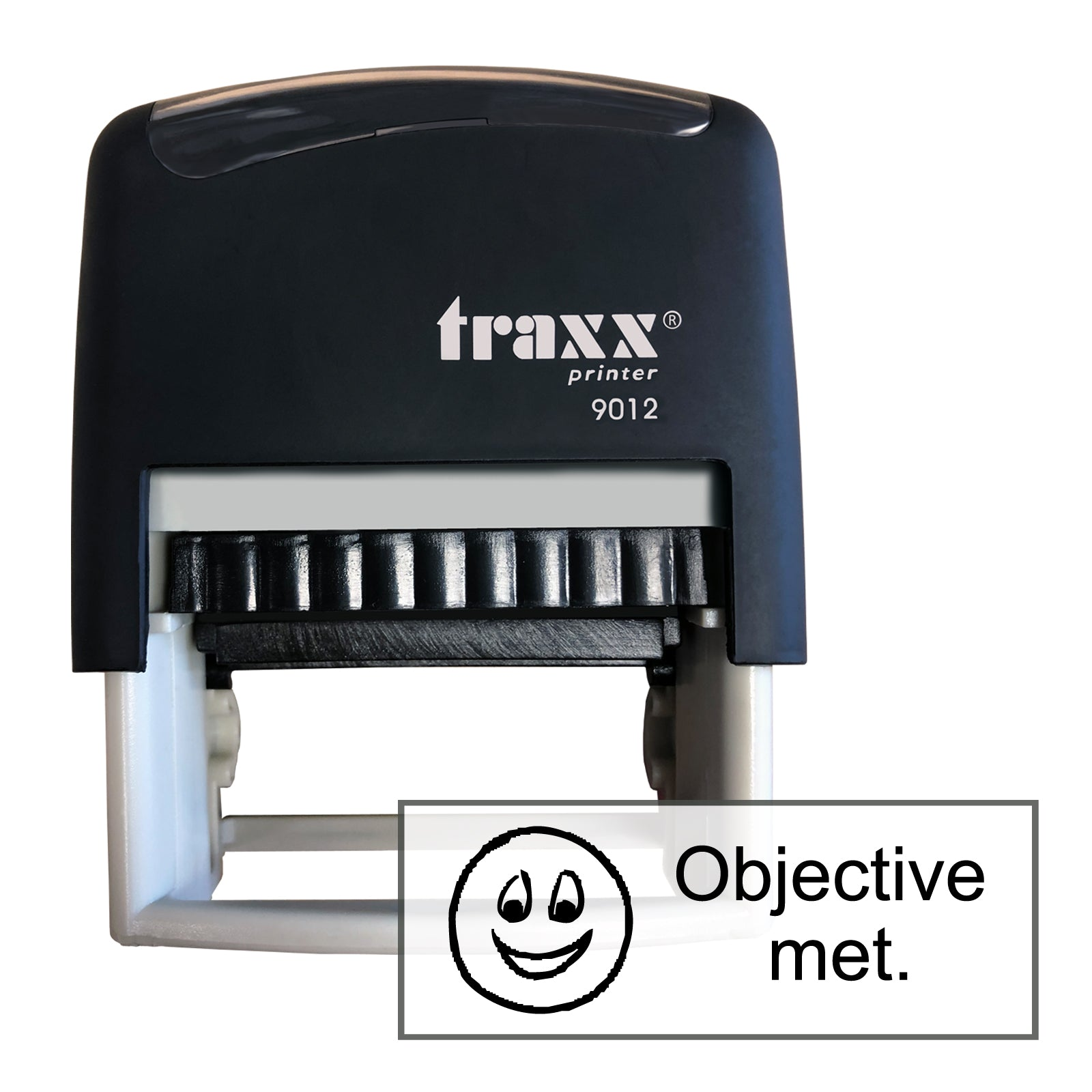 Traxx 9012 48 x 18mm Assessment Stamp - Objective met
