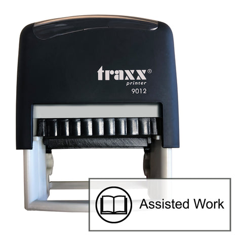 Traxx 9012 48 x 18mm Assessment Stamp - Assisted Work
