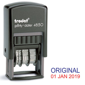 Trodat 4850 Stock Date Stamp - ORIGINAL