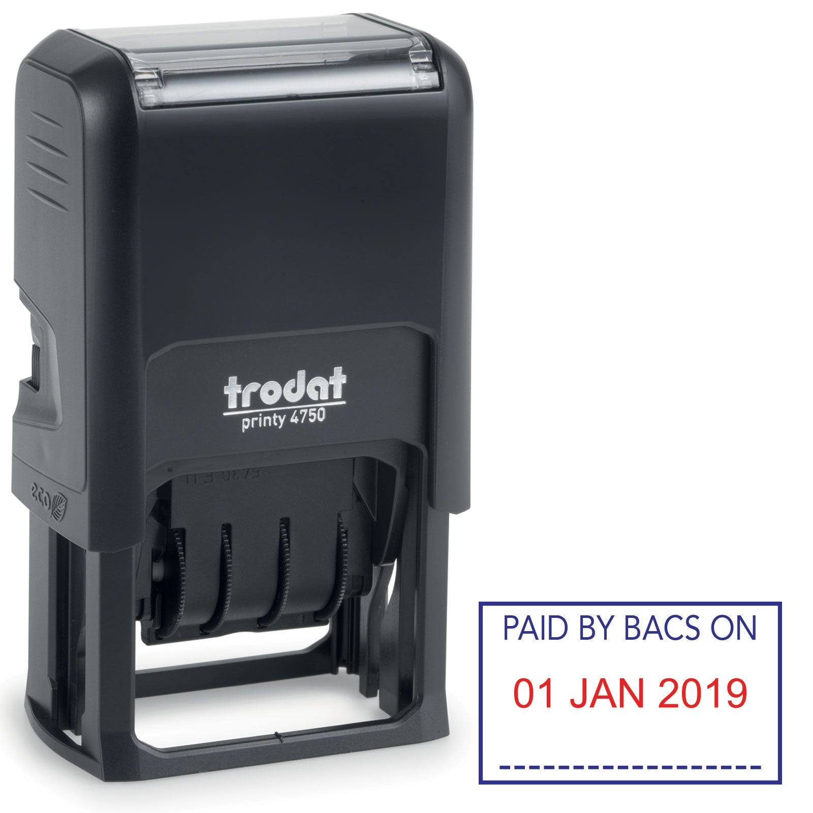 Trodat 4750 Stock Date Stamp -  PAID BY BACS