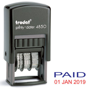 Trodat 4850 Stock Date Stamp - PAID