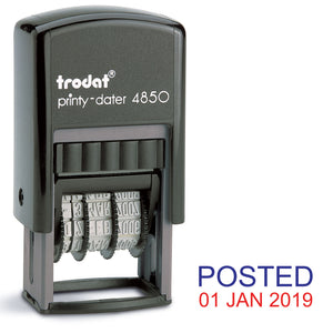 Trodat 4850 Stock Date Stamp - POSTED