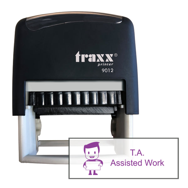 Traxx 9012 48 x 18mm Assessment Stamp - TA Assisted Work