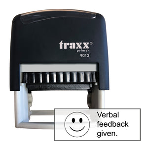 Traxx 9012 48 x 18mm Assessment Stamp - Verbal feedback given