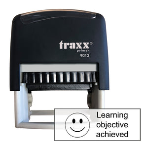 Traxx 9012 48 x 18mm Assessment Stamp - Learning objective achieved