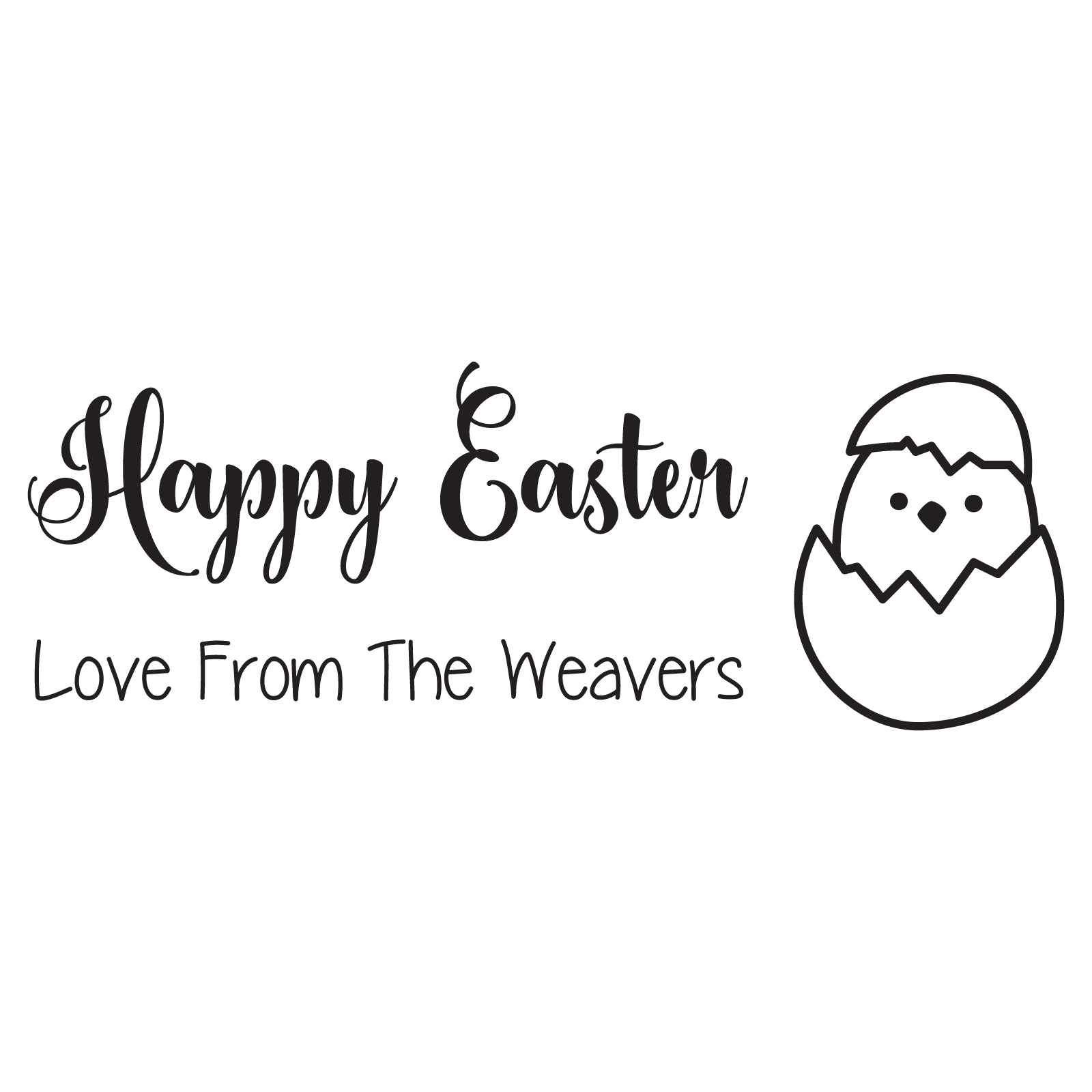 Small Personalised Stamp - Easter 2
