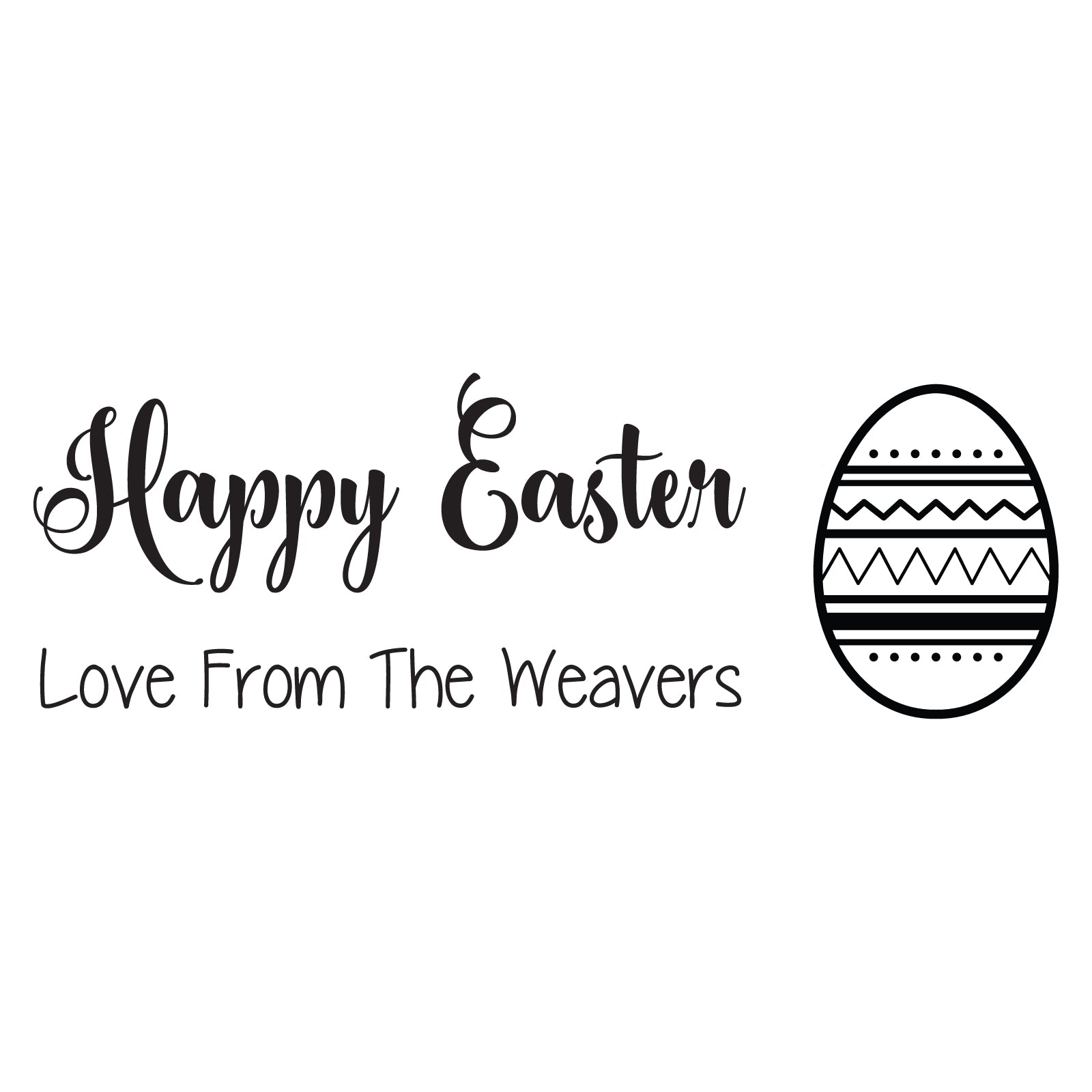 Small Personalised Stamp - Easter 4