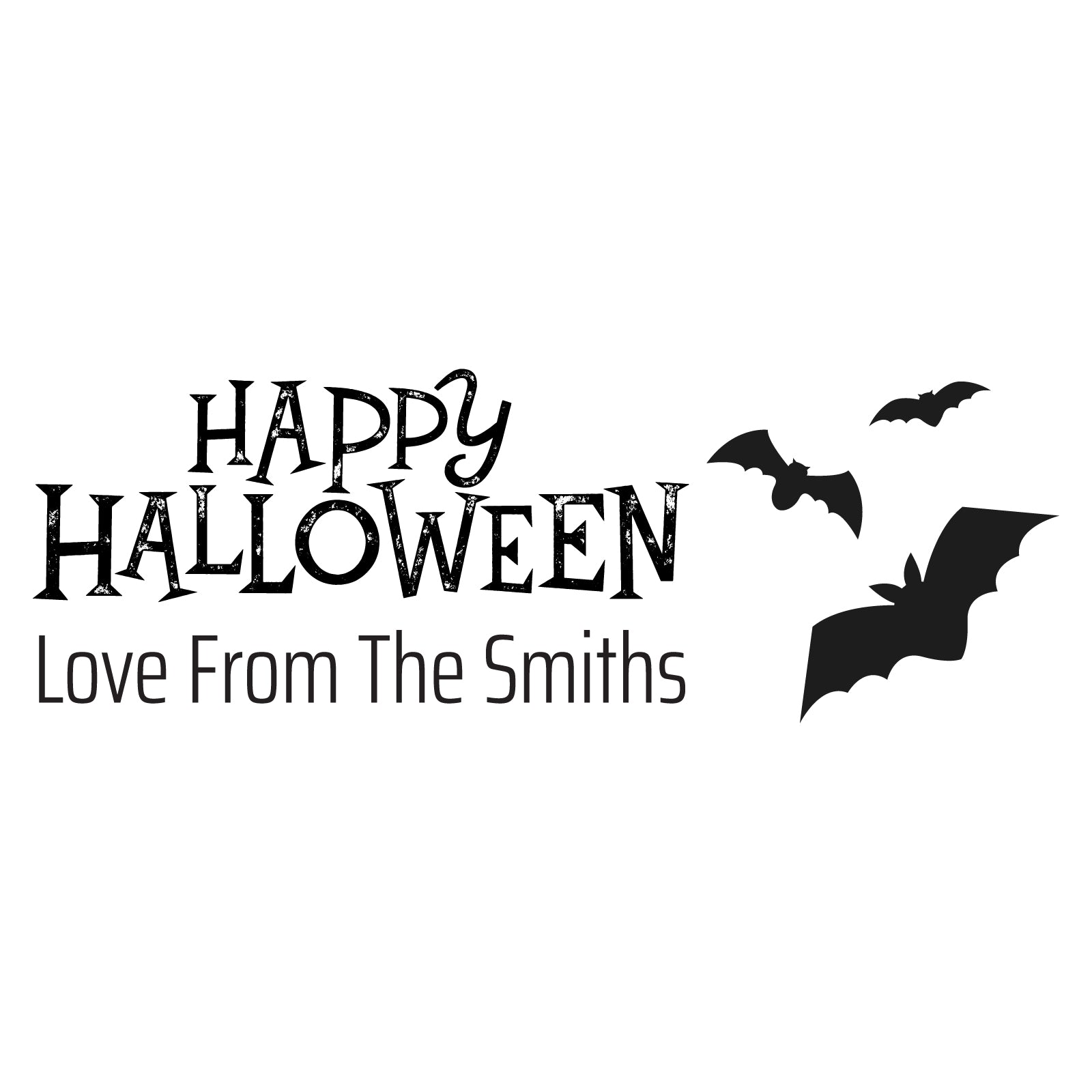 Small Personalised Stamp - Halloween 2