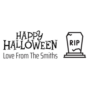 Small Personalised Stamp - Halloween 4