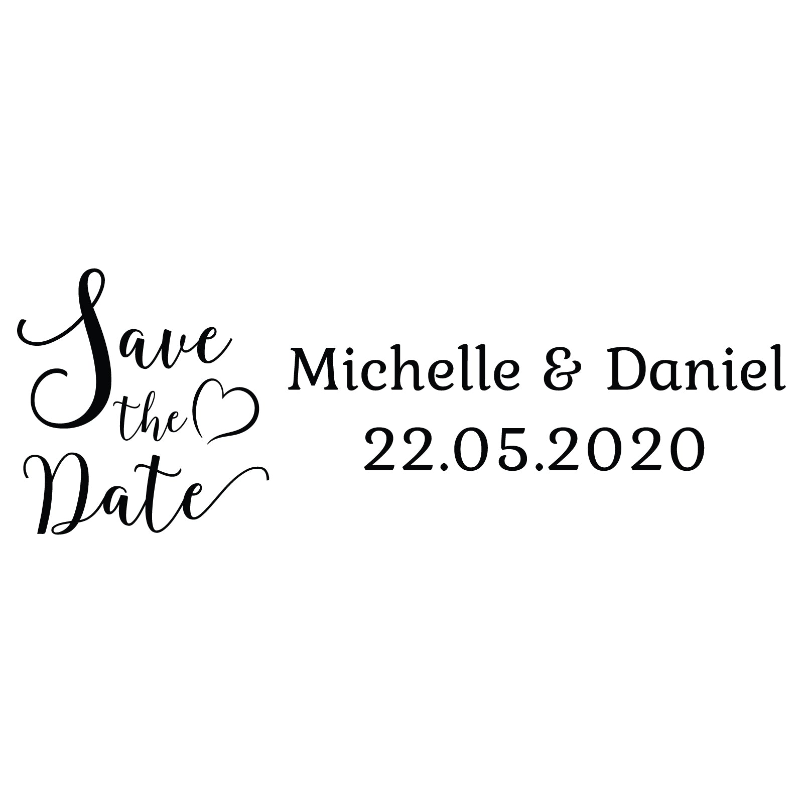 Small Personalised Stamp - Wedding 2