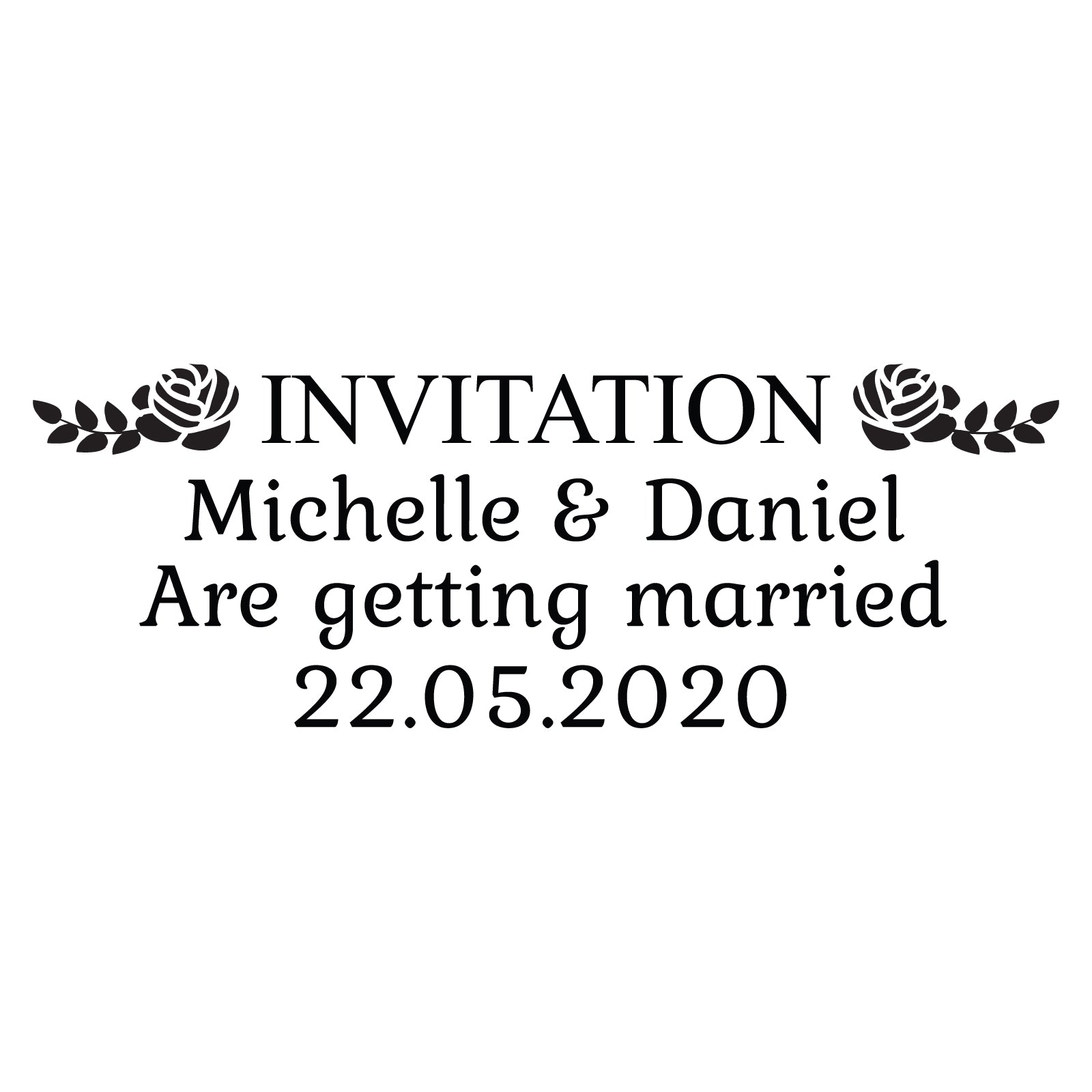 Small Personalised Stamp - Wedding 4