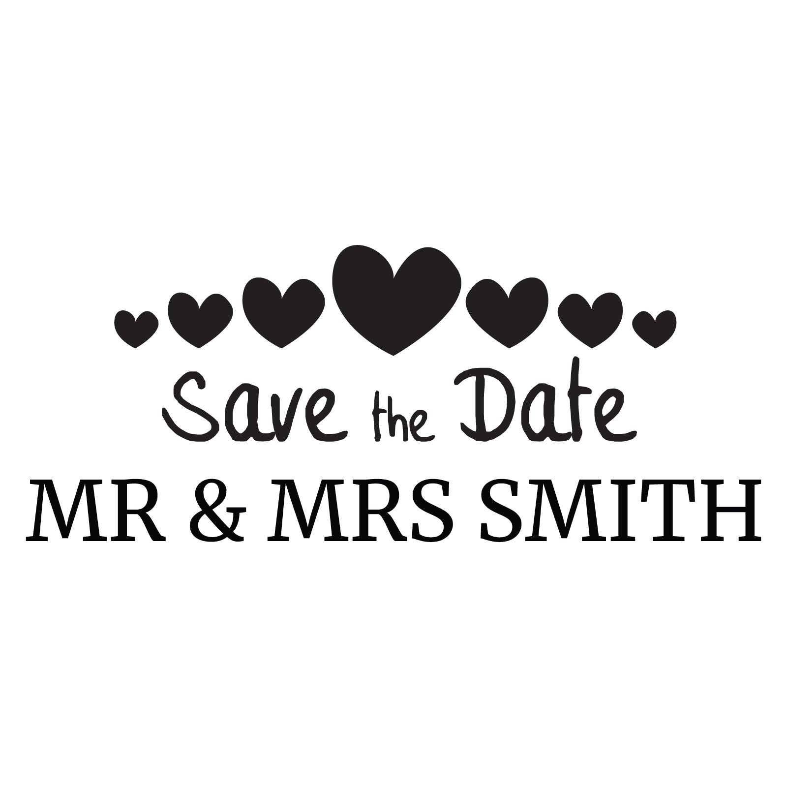 Small Personalised Stamp - Wedding 1