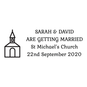 Medium Personalised Stamp - Wedding 4
