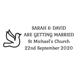 Medium Personalised Stamp - Wedding 6