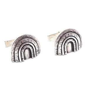 Sterling Silver Rainbow Cufflinks | Handcrafted Jewelry by 4byKaren.com