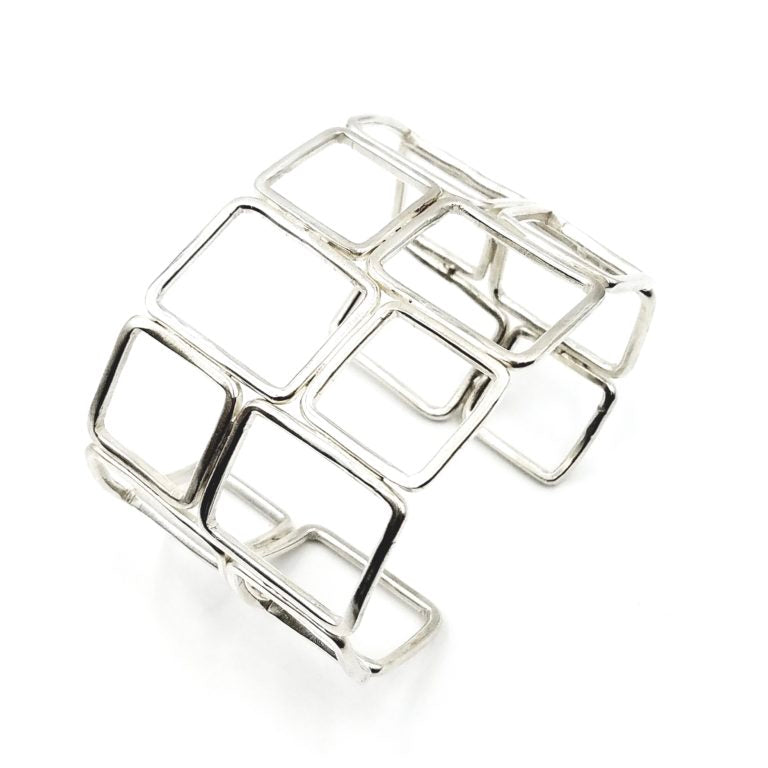 Fitting In Sterling Silver Cuff Bracelet