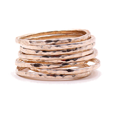 Load image into Gallery viewer, 14k Gold Stack Ring Set | Handcrafted Jewelry from 4byKaren.com