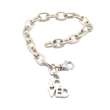 Load image into Gallery viewer, Ovals Sterling Silver LOVED Bracelet | Handcrafted Jewelry by 4byKaren.com
