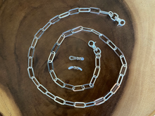 Load image into Gallery viewer, Mask and Eyeglass Sterling Silver Chain Necklace | Handcrafted Jewelry by 4byKaren.com