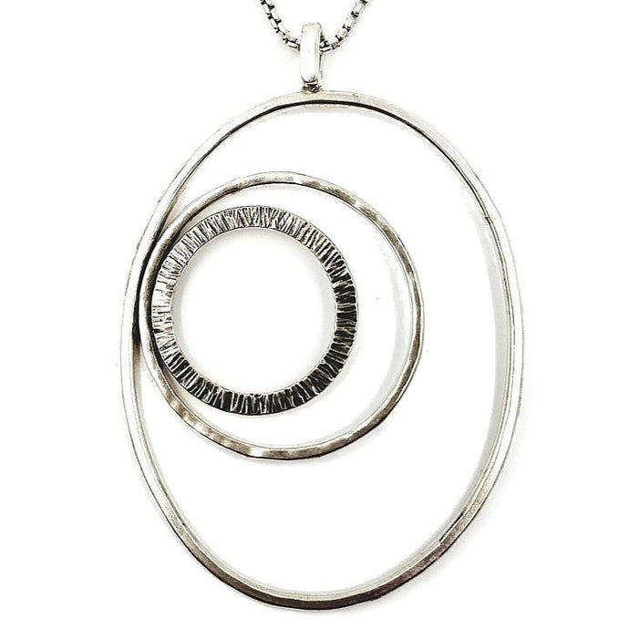 Sterling Silver Mode-Circles Necklace