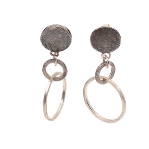 Single-Single Stud and Hoop Sterling Silver Earrings | Handcrafted Jewelry by 4byKaren.com