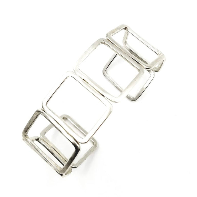 Uniform Sterling Silver Cuff Bracelet | Handcrafted Jewelry by 4byKaren.com