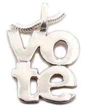 Load image into Gallery viewer, Two-line Vote Necklace