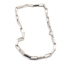 Load image into Gallery viewer, Box Rectangle Sterling Silver Necklace | Handcrafted Jewelry by 4byKaren.com