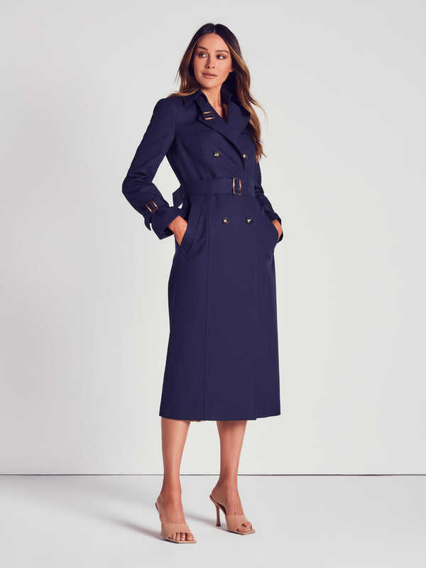 COTTON TRENCH - NAVY