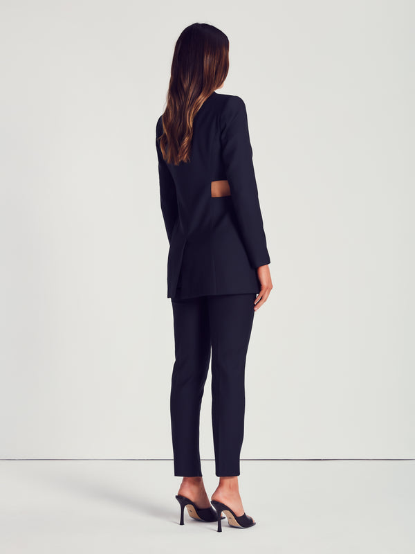 CUT OUT BLAZER - BLACK