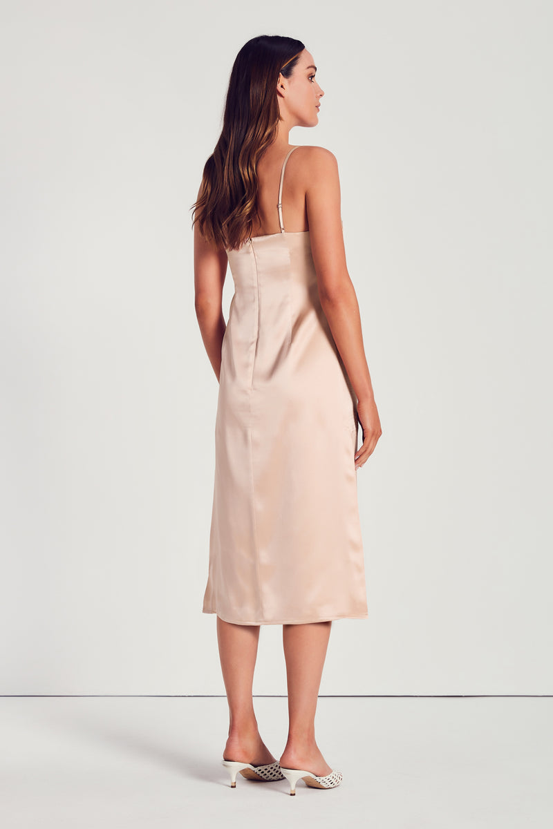 SOFIA SLIP DRESS - GOLD
