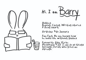 Barry Rabbit Colouring Sheet