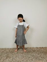 Load image into Gallery viewer, Korean Black Checkered Dress Set