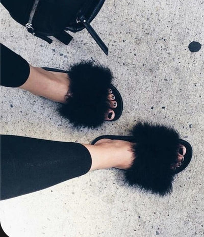Styling Tips to Wear Fur Slides/Slippers