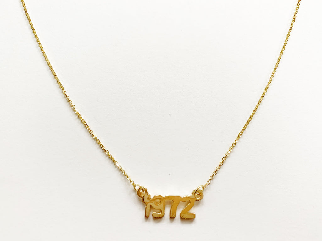 "14k Gold ""1972"" Necklace"