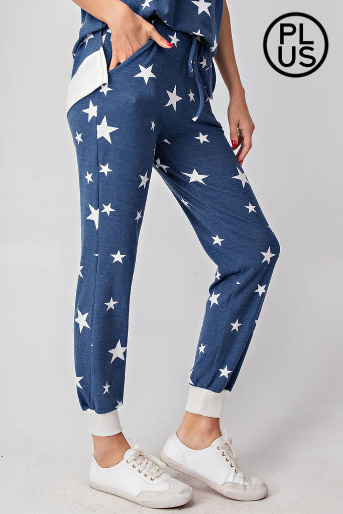 Star Spangled Knit Joggers